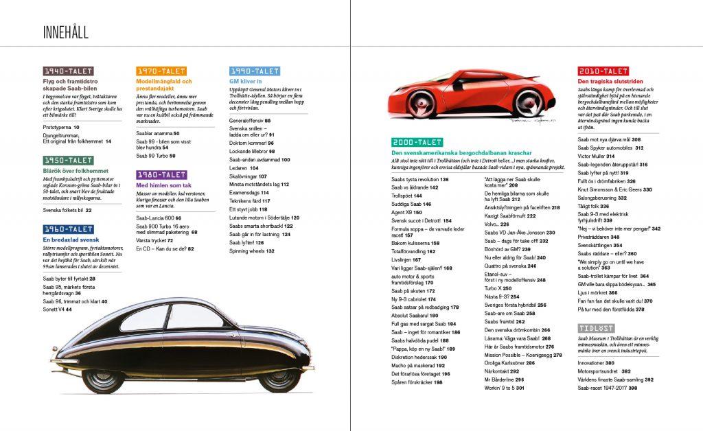 Stora boken om Saab - innehåll