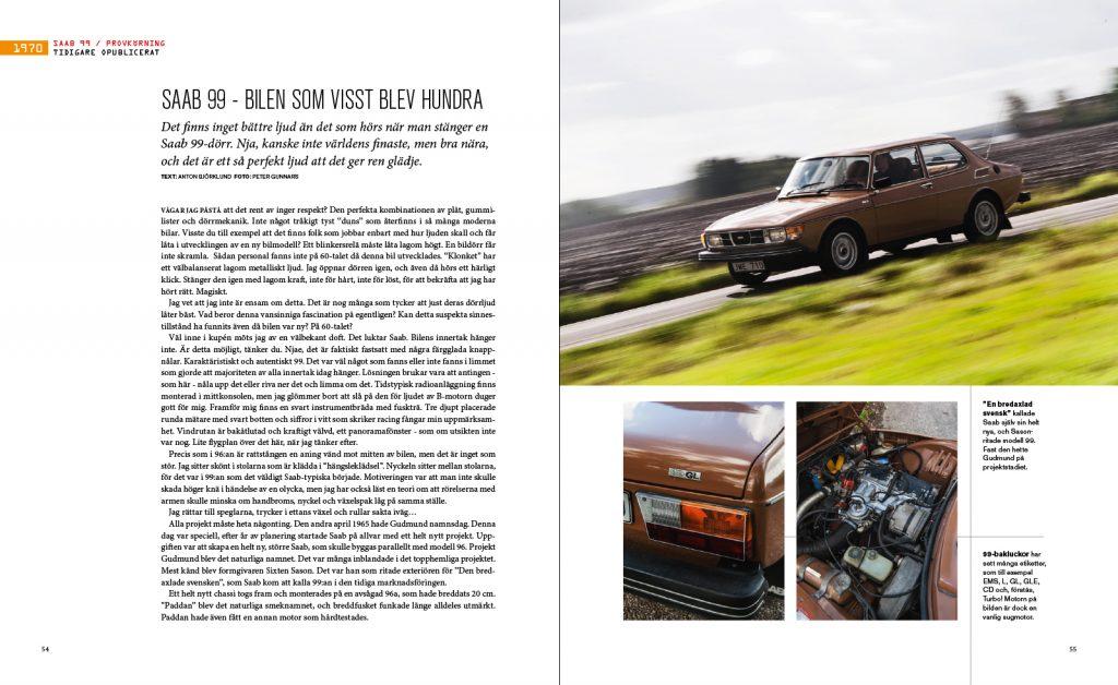 Stora boken om Saab - uppslag