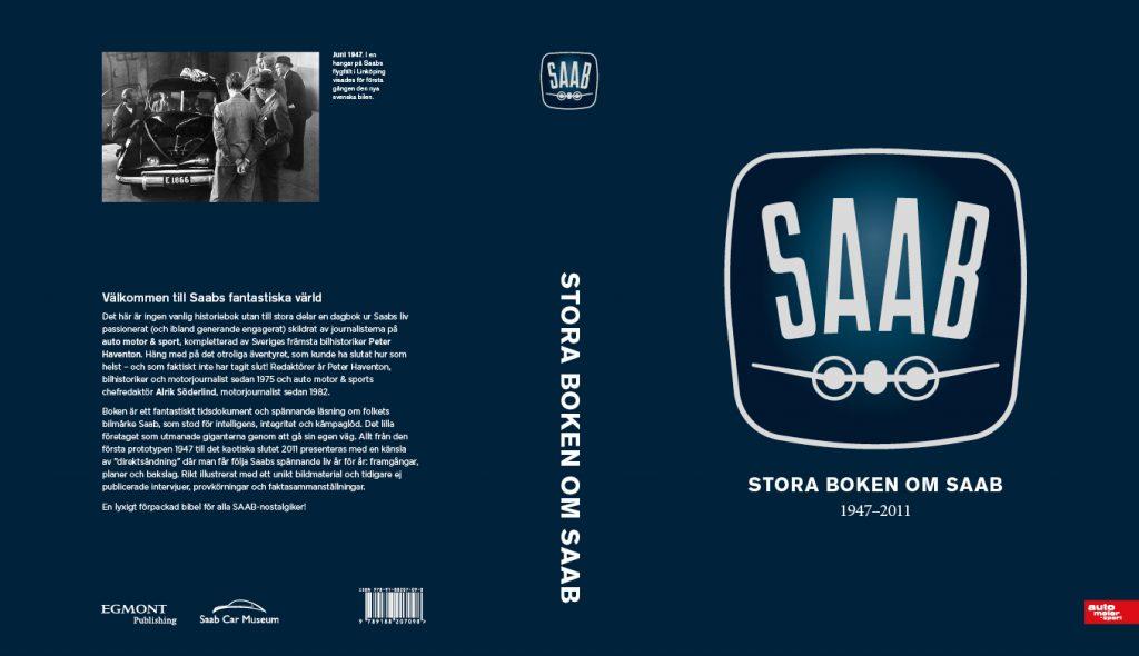 Stora boken om Saab - omslag
